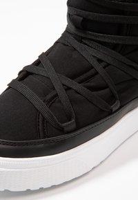 Native - CHAMONIX - Lace-up ankle boots - jiffy black/shell white - 5