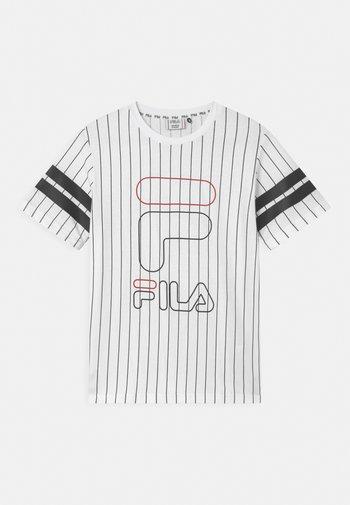 JUNIAS STRIPPED  - Print T-shirt - bright white