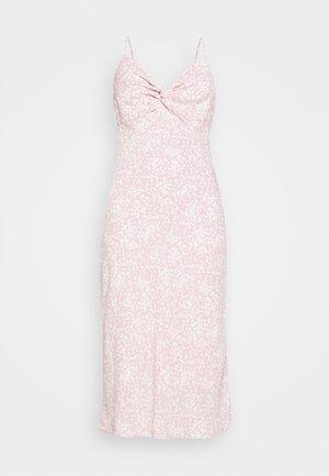 NECK SLIP MIDI DRESS - Day dress - rose