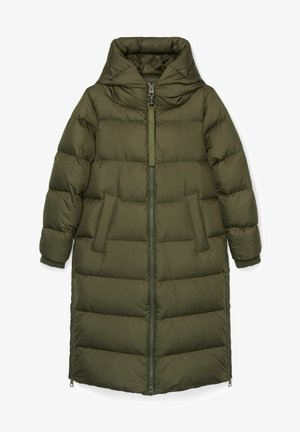 Down coat - workers olive