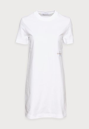 OFFPLACED MONOGRAM DRESS - Jerseykjoler - white