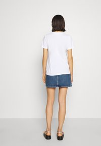 Calvin Klein Jeans - HIGH RISE MINI SKIRT - A-snit nederdel/ A-formede nederdele - light blue yoke - 2