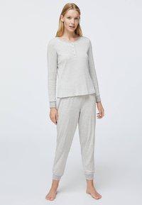 OYSHO - STRIPED - Pyžamový spodní díl - grey - 1