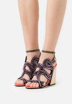 DELIA - High heeled sandals - fire cracker/multicolor