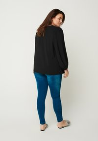 Zizzi - WITH PUFF SLEEVES - Blouse - black - 2
