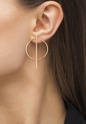 ICTUM - Earrings - rose goldfarbend