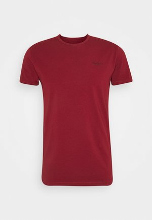 ORIGINAL BASIC - Jednoduché triko - merlot