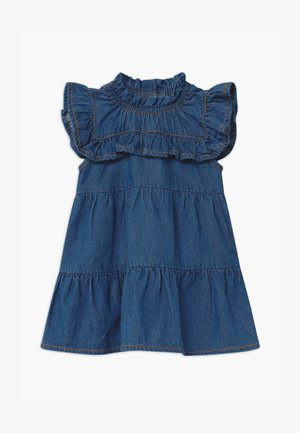 NBFBATALLE BABY - Spijkerjurk - medium blue denim
