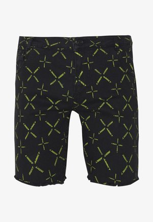 NAJOYCE - Shorts di jeans - black denim