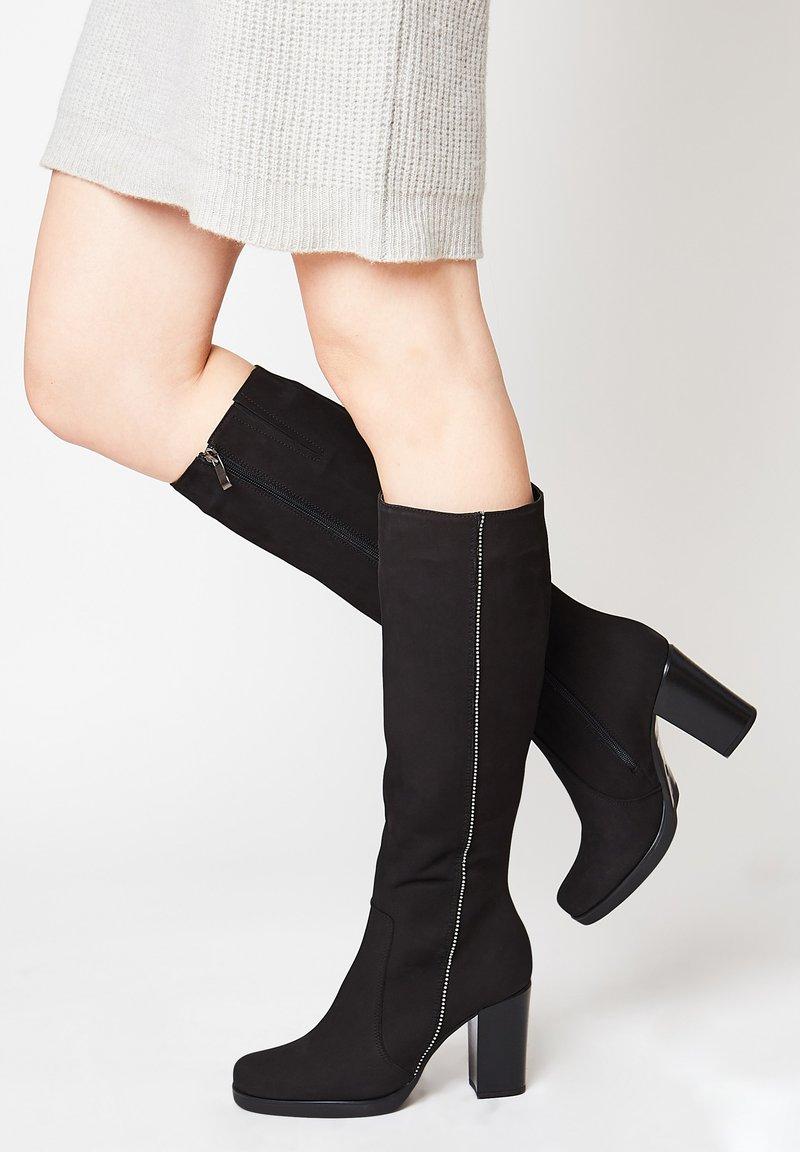 faina - MIT HOHEM ABSATZ - Boots - schwarz