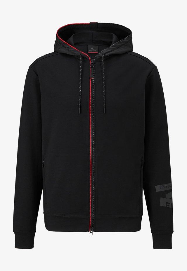 CAMILL - veste en sweat zippée - schwarz