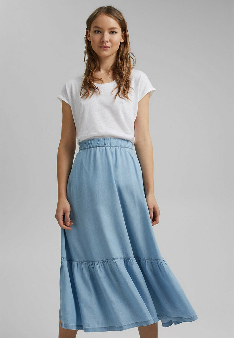 edc by Esprit - A-line skirt - blue light washed