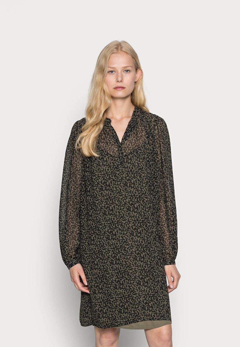 Esprit Collection - DRESSES LIGHT WOVEN - Shirt dress - khaki green
