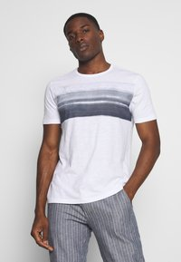 Marc O'Polo - Print T-shirt - white/mood indigo - 0