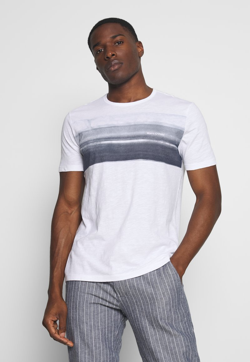 Marc O'Polo - Print T-shirt - white/mood indigo