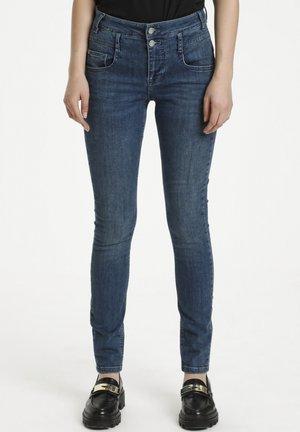 FIOLA - Jeans Slim Fit - medium blue vintage wash