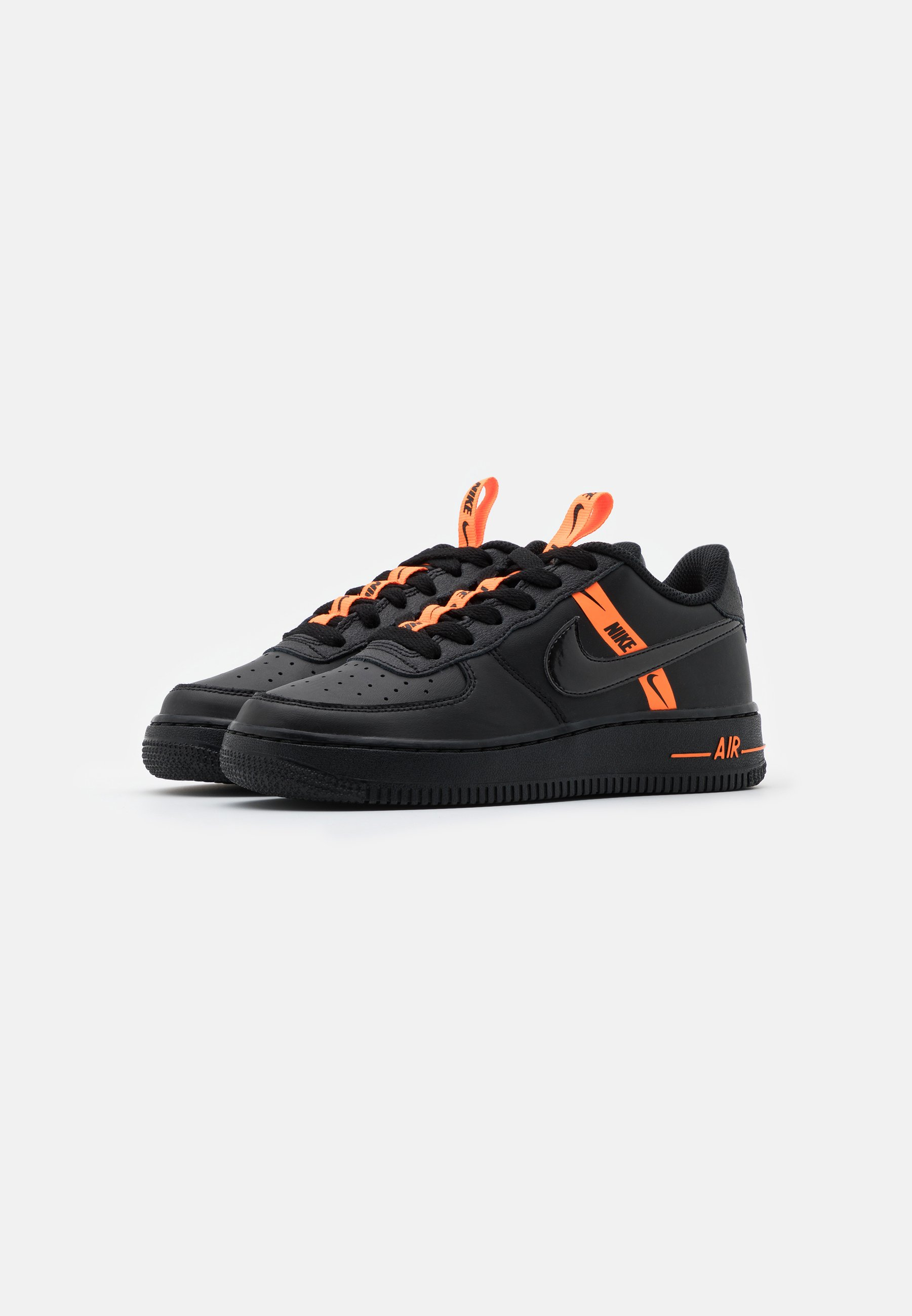Nike Sportswear AIR FORCE 1 - Baskets basses - black/total orange ...