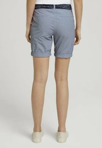 TOM TAILOR - Shorts - navy thin stripe - 2