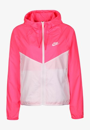 Outdoor jacket - hyper pink/white