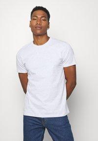 Topman - 7 PACK - Camiseta básica - mottled grey/khaki/blue - 1