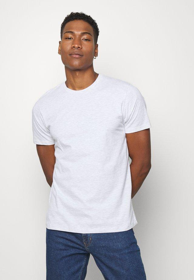 7 PACK - Jednoduché triko - mottled grey/khaki/blue