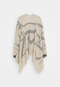 CLOSED - KNITTED PONCHO - Cape - almond cream - 1