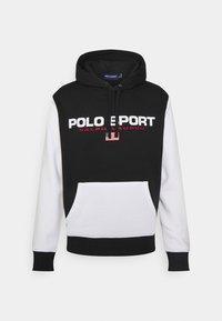 Polo Sport Ralph Lauren - HOOD LONG SLEEVE - Sweatshirt - black/white - 0