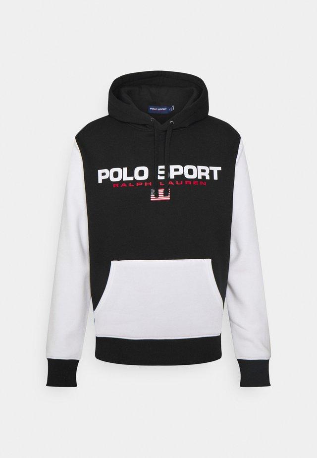HOOD LONG SLEEVE - Sweatshirt - black/white