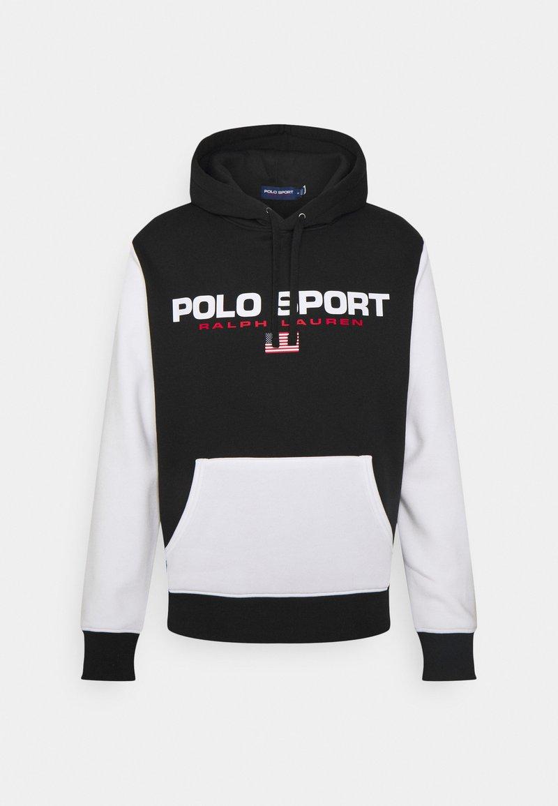 Polo Sport Ralph Lauren - HOOD LONG SLEEVE - Sweatshirt - black/white