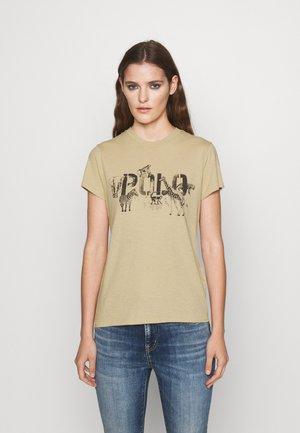 T-shirts med print - dune tan