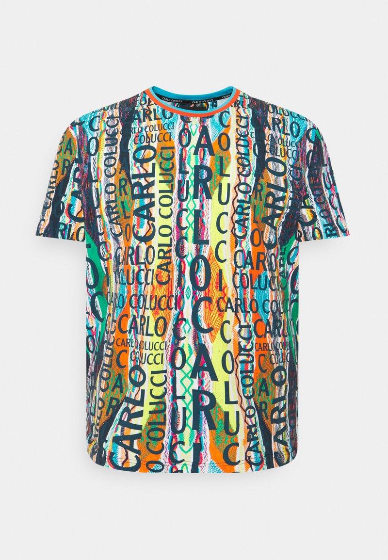 Carlo Colucci - BIG - Print T-shirt - white/multi