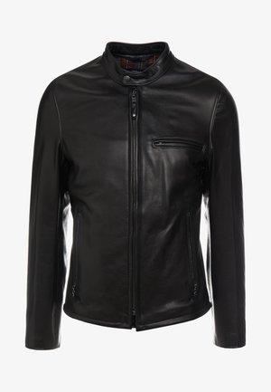 CAFE RACER - Leather jacket - black