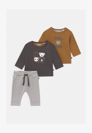 SET UNISEX - Broek - grey/light brown