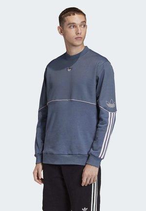 OUTLINE CREW SWEATSHIRT - Sweatshirt - blue