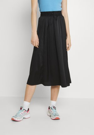 LUMI SKIRT - Áčková sukně - black dark