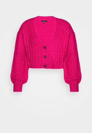 WIDE NECK  - Cardigan - magenta