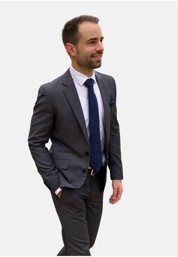 SET - Cravatta - blau quadrat