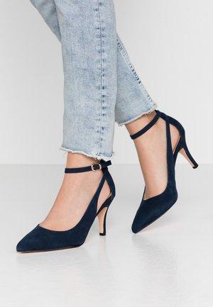 LEATHER PUMPS - Escarpins à talons hauts - dark blue