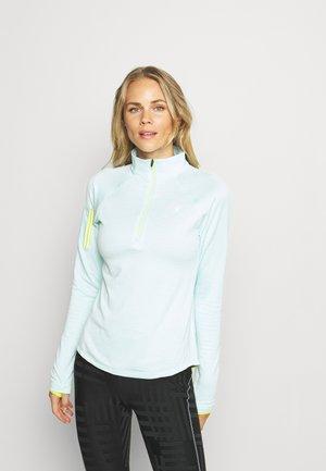 IMPACT RUN HEAT GRID HALF ZIP - Long sleeved top - pale blue chill heather
