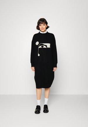 FELIA DRESS - Gebreide jurk - black dark