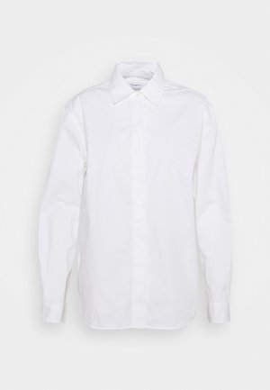 JUNIPER LOOSE LONG - Button-down blouse - bright white