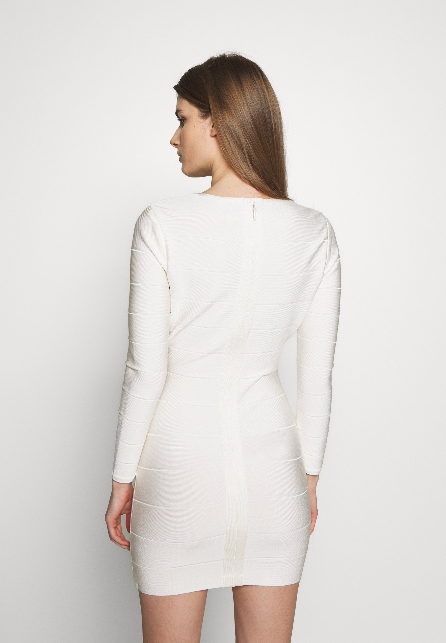 Hervé Léger ICON LONG SLEEVE DRESS Etuikleid alabaster/offwhite