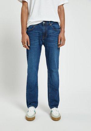 Jeansy Straight Leg - mottled blue