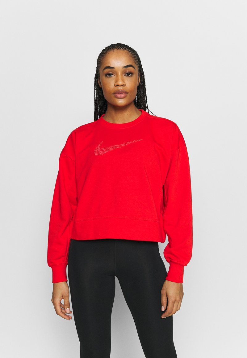 Nike Performance - DRY GET FIT CREW - Sudadera - chile red/crimson bliss