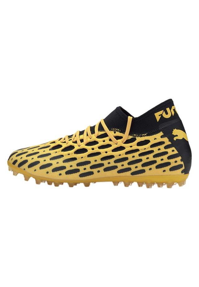 PUMA FUTURE 5.2 NETFIT MG MEN'S FOOTBALL BOOTS MALE - Sports shoes - ultra yellow-black