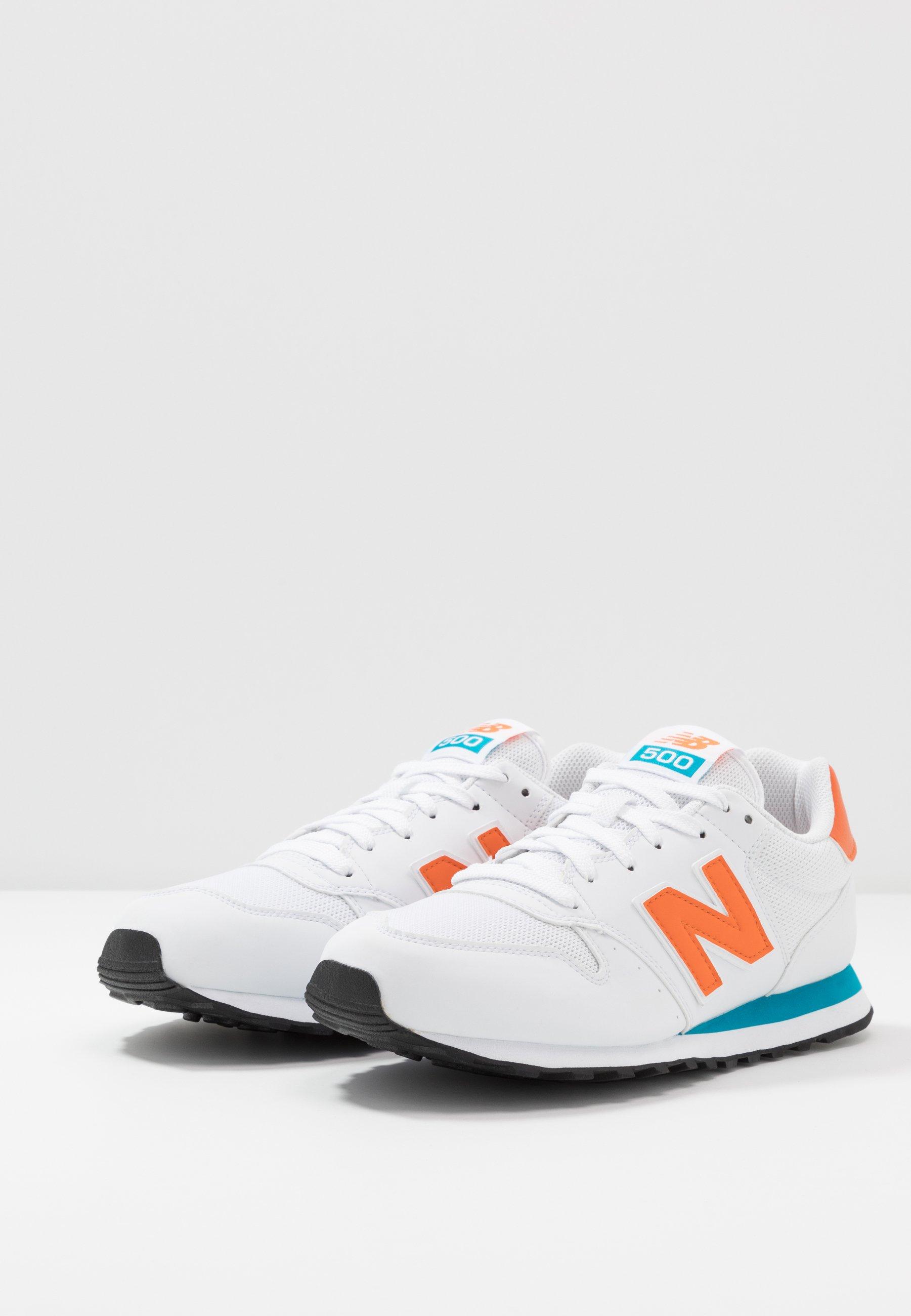 500 - Baskets basses - white/orange/blue
