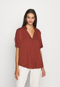 Scotch & Soda - POP OVER SHIRT IN RELAXED FIT - Blouse - island brown - 3
