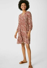 C&A - Day dress - brown / beige - 0