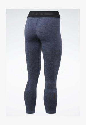 UNITED BY FITNESS MYOKNIT SEAMLESS 7/8 LEGGINGS - Leggings - blue