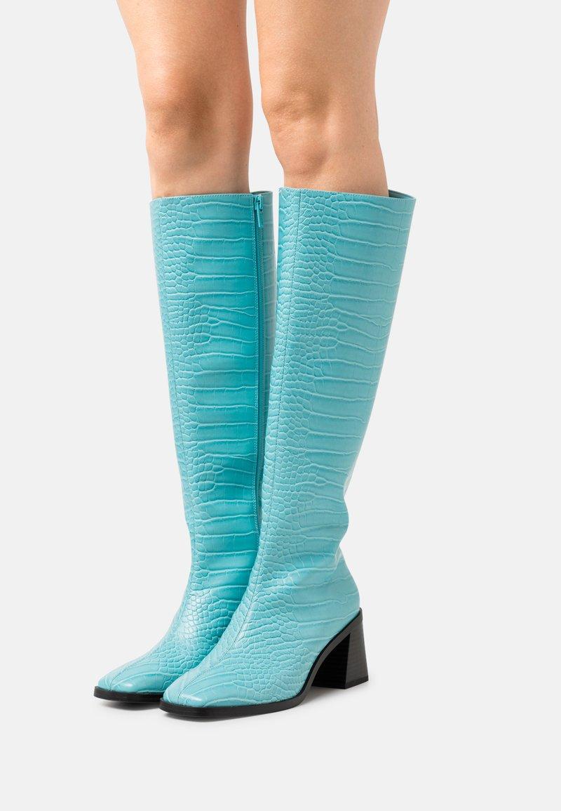 Monki - POLLY BOOT VEGAN - Vysoká obuv - turqoise